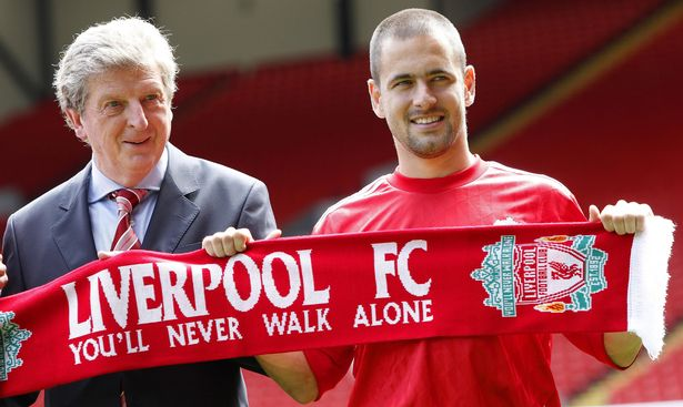 Soccer-Liverpool-FC-Joe-Cole-Milan-Jovanovic-and-Danny-Wilson-Unveiling-Anfield